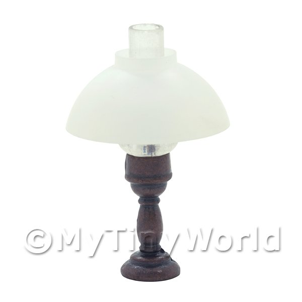 Dolls House Miniature Small Antiqued Metal Desk Lamp