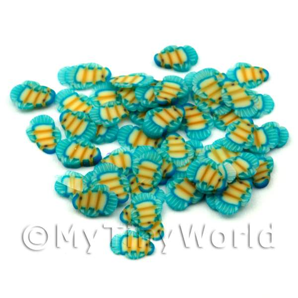 Dolls House Miniature  | 50 Tropical Fish Cane Slices - Nail Art (ENS13)