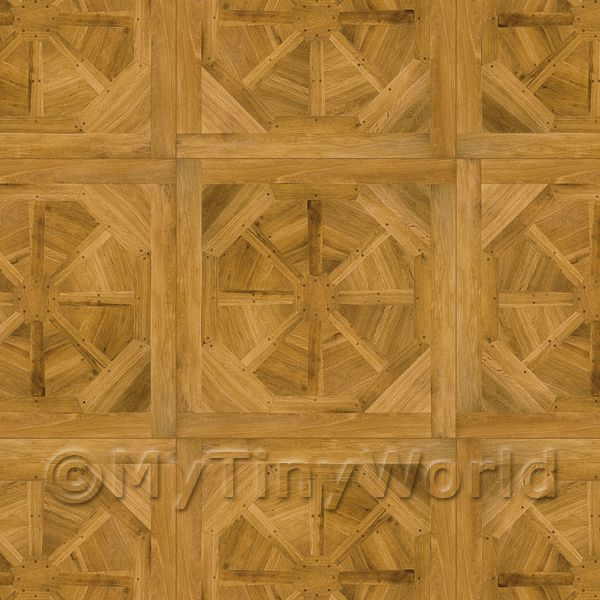 Dolls House Miniature Etoile Large Panel Parquet Wood Effect Flooring