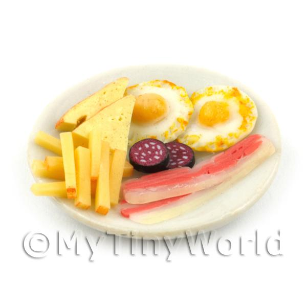 Dolls House Miniature Handmade Full English Style Breakfast