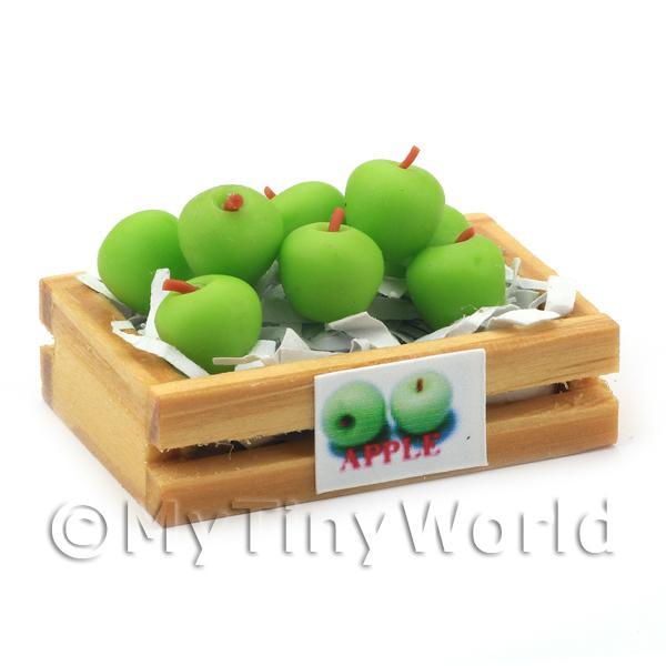 Dolls House Miniature  | Dolls House Miniature Crate of Granny Smith Apple