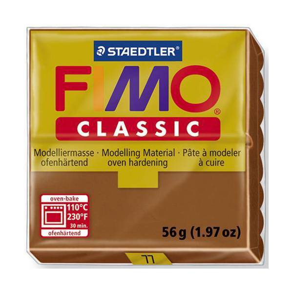 FIMO Classic Basic Colours 56g Chocolate 77