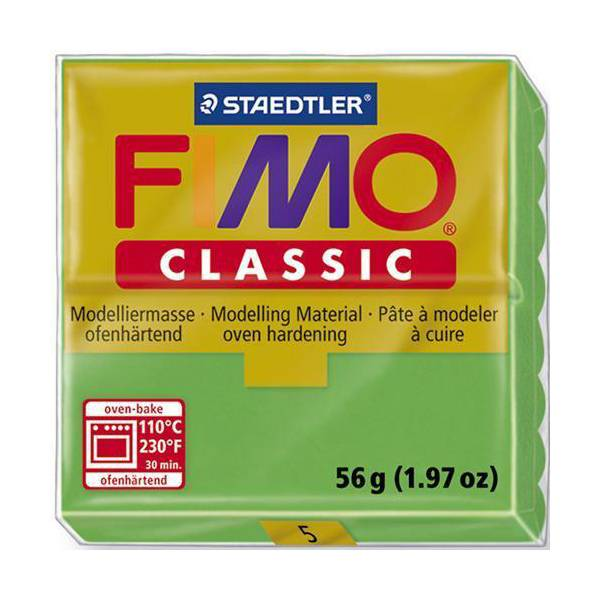 Dolls House Miniature  | FIMO Classic Basic Colours 56g Green 05