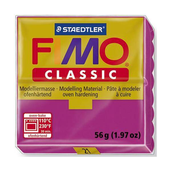 Dolls House Miniature  | FIMO Classic Basic Colours 56g Magenta 21