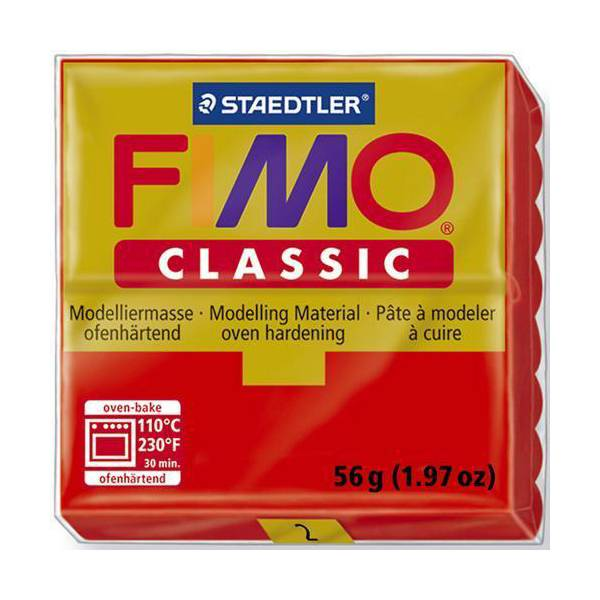 FIMO Classic Basic Colours 56g Red 02