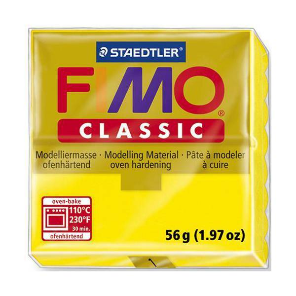 FIMO Classic Basic Colours 56g Yellow 01