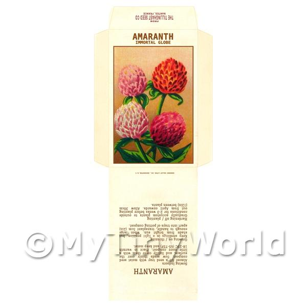 Amaranth Dolls House Miniature Seed Packet