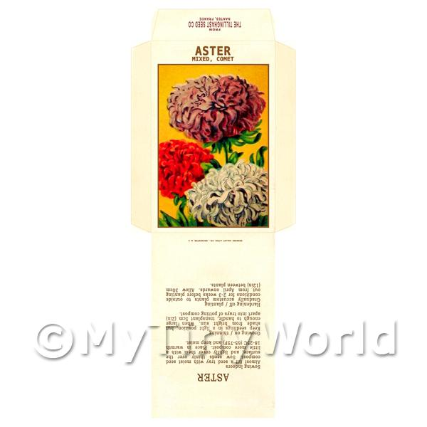 1/12 Scale Dolls House Miniatures  | Aster Comet Dolls House Miniature Seed Packet