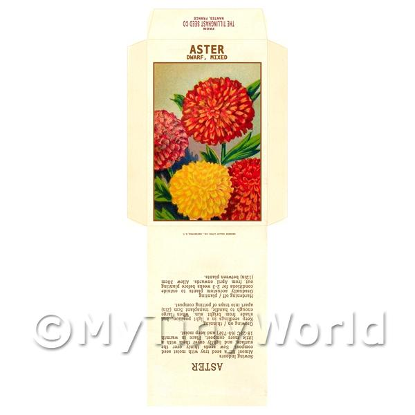 Dwarf Aster Dolls House Miniature Seed Packet