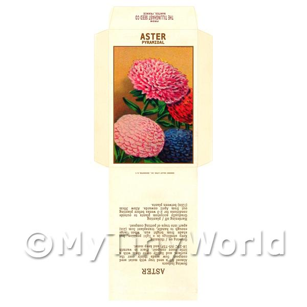 Dolls House Miniatures  | Pyramidal Aster Dolls House Miniature Seed Packet