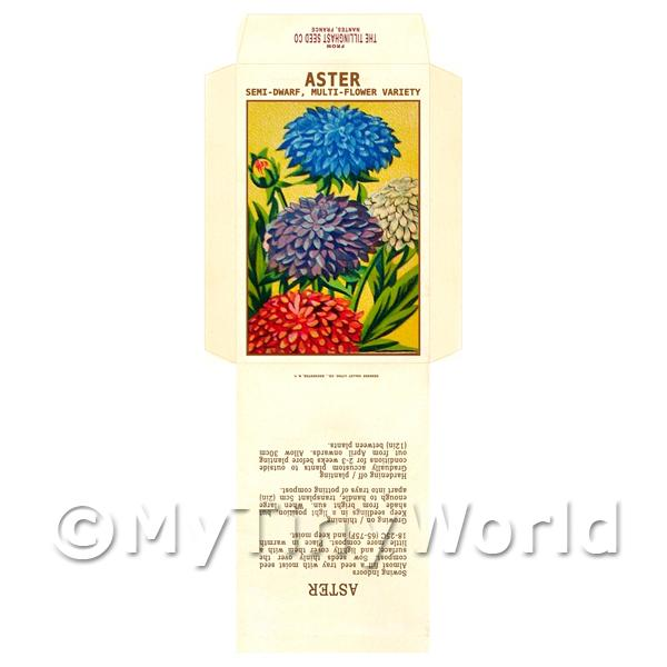 Semi-Dwarf Aster Dolls House Miniature Seed Packet