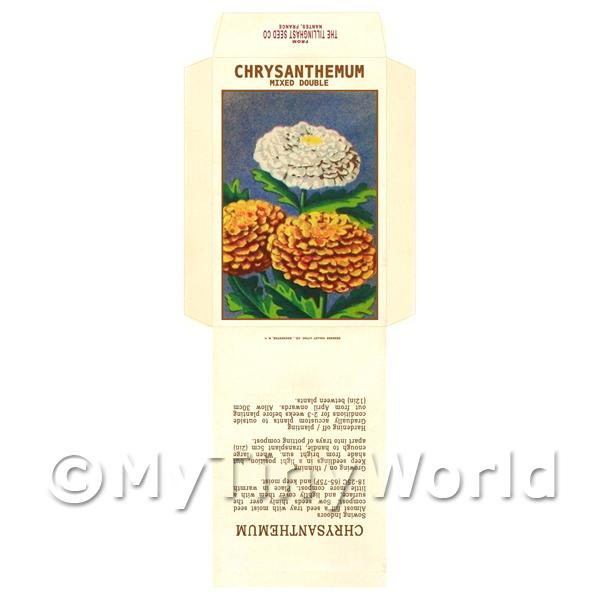 Mixed Double Chrysanthemum Dolls House Miniature Seed Packet