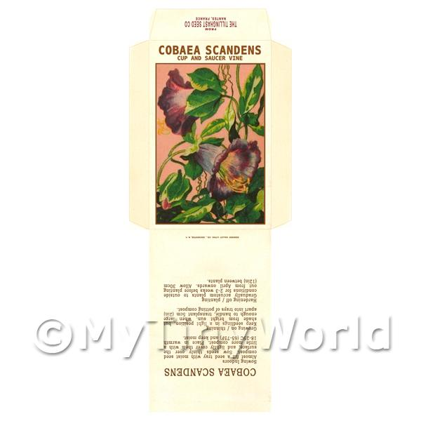 Cobaea Scandens Dolls House Miniature Seed Packet