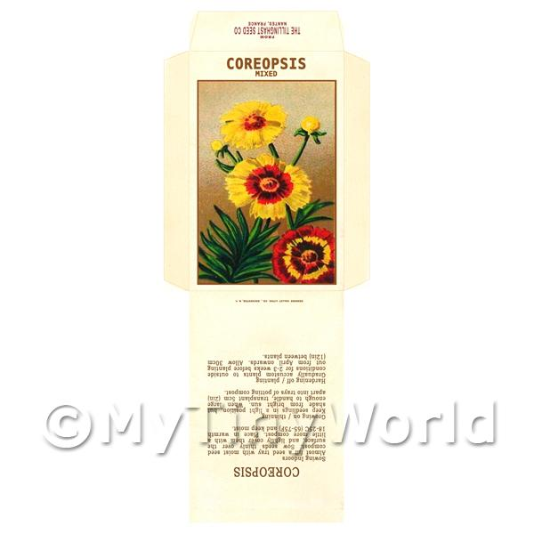 Coreopsis Dolls House Miniature Seed Packet