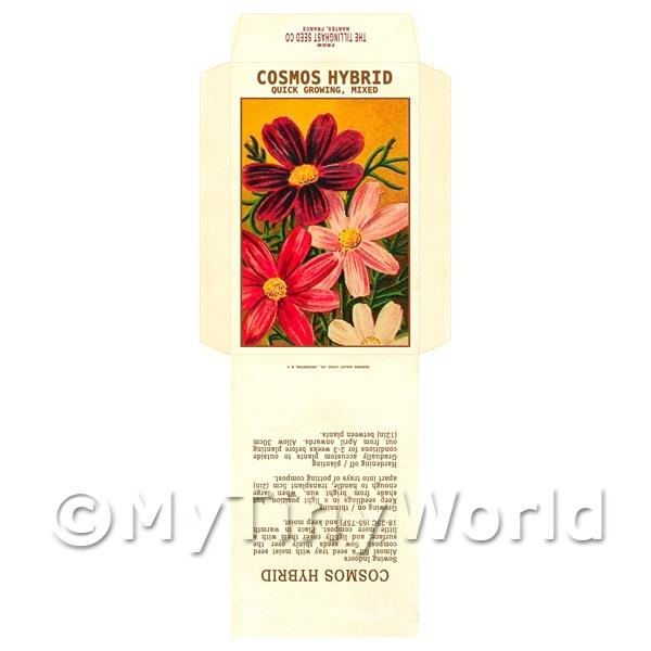 Cosmos Hybrid Dolls House Miniature Seed Packet