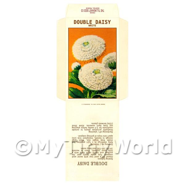 Double Daisy Dolls House Miniature Seed Packet