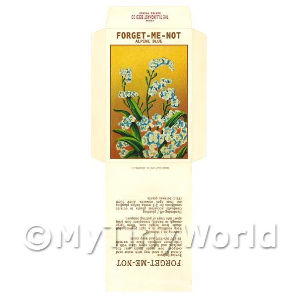 Forget-Me-Not Dolls House Miniature Seed Packet