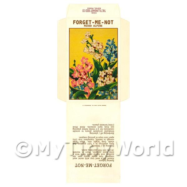 Forget-Me-Not Alpine Dolls House Miniature Seed Packet