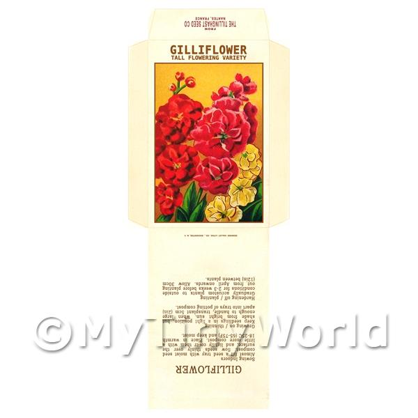 Gilliflower Dolls House Miniature Seed Packet