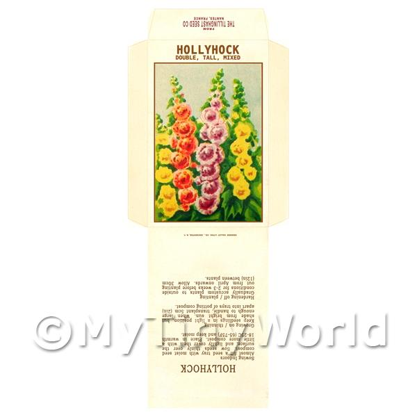 Hollyhock Dolls House Miniature Seed Packet