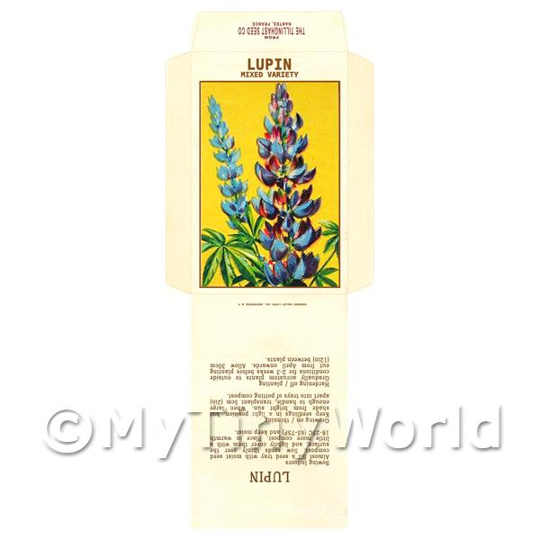 Lupin Dolls House Miniature Seed Packet