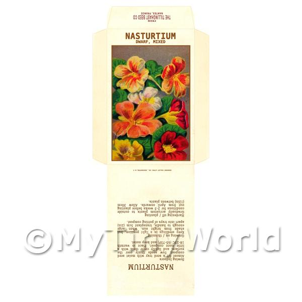 1/12 Scale Dolls House Miniatures  | Dwarf Nasturtium Dolls House Miniature Seed Packet