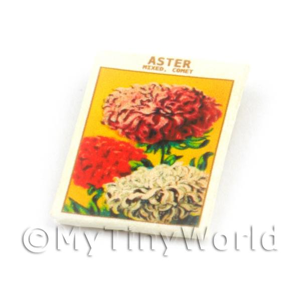 Dolls House Flower Seed Packet - Aster