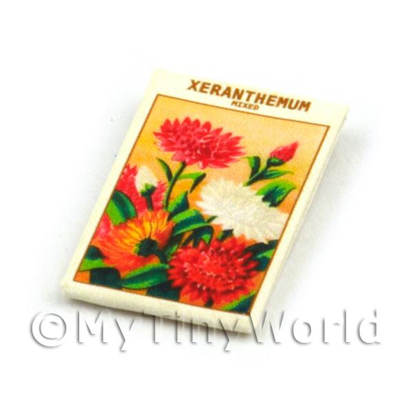 Dolls House Miniature  | Dolls House Flower Seed Packet - Xeranthemum