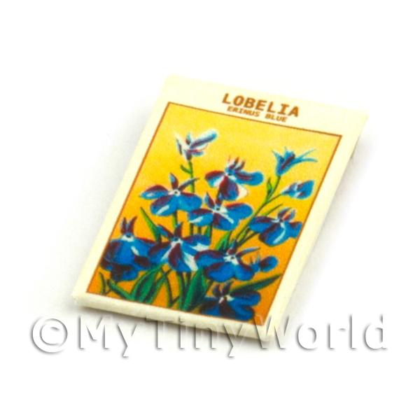 Dolls House Miniature  | Dolls House Flower Seed Packet - Lobelia