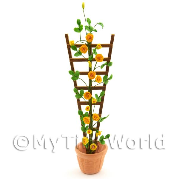 Dolls House Miniature  | Flexible Dolls House Miniature Yellow Rose Flower Strip