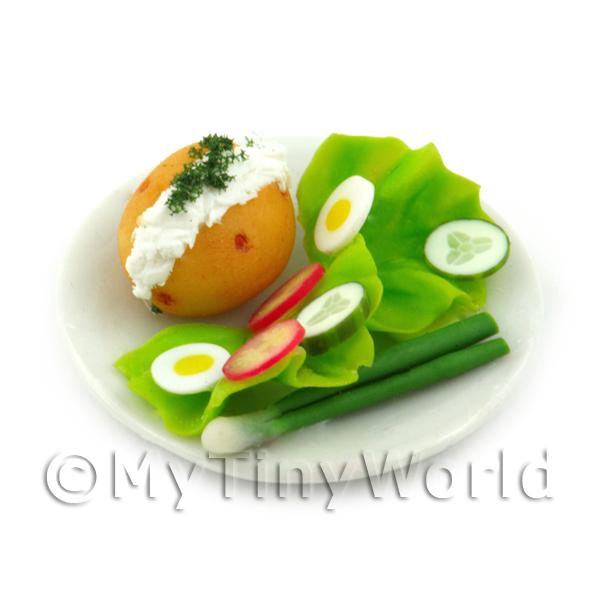 Dolls House Miniature Jacket Potato And Cream Cheese