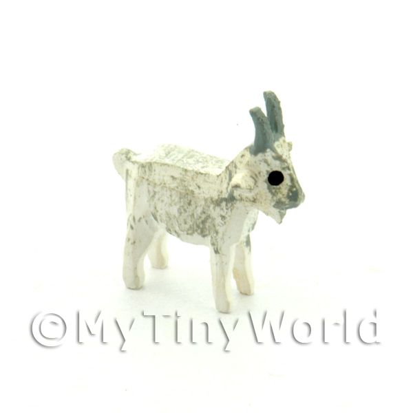 German Dolls House Miniature Small Standing White Goat