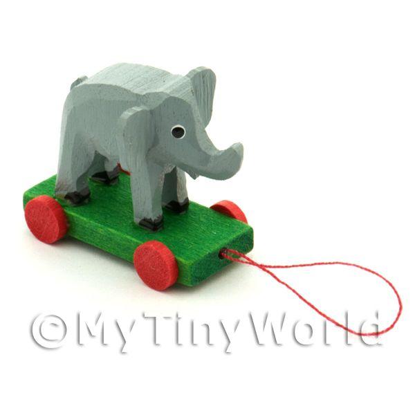 Dolls House Miniature Large German Pull-Along Elephant