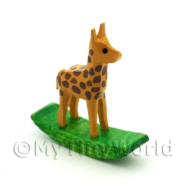 German Crafted Dolls House Miniature 20mm Rocking Giraffe