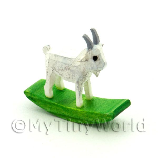 German Crafted Dolls House 20mm Rocking White Goat