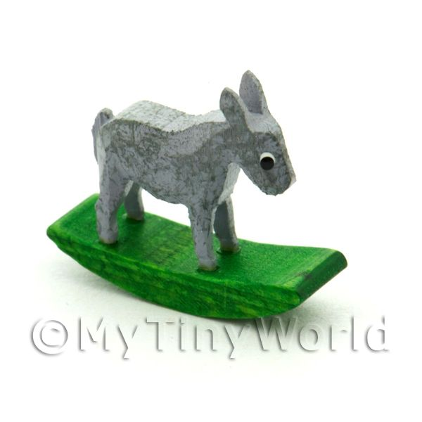 German Crafted Dolls House Miniature 20mm Rocking Donkey