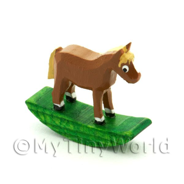 German Crafted Dolls House Miniature 20mm Rocking Horse