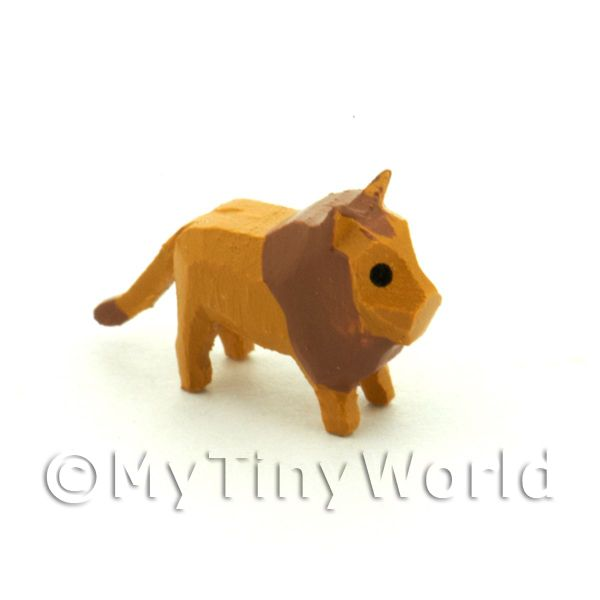 German Dolls House Miniature Small Standing Lion