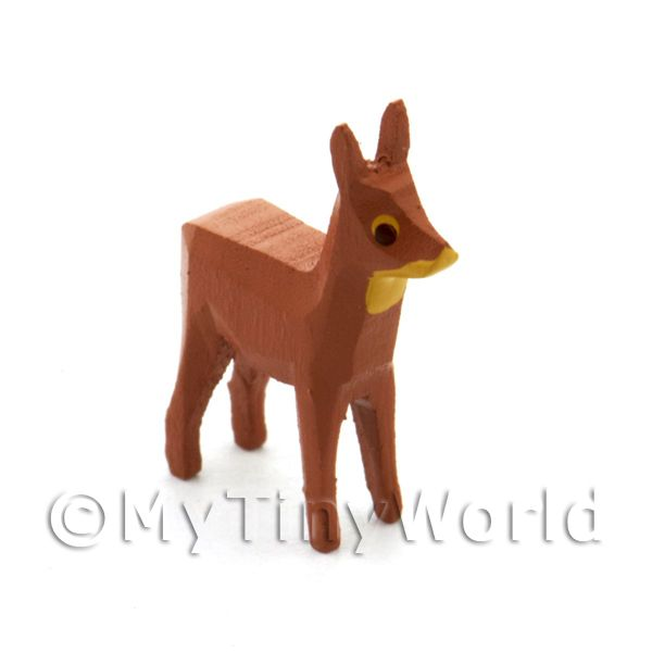 German Dolls House Miniature Small Standing Deer
