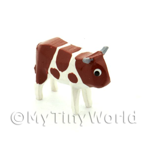 German Dolls House Miniature Small Standing Brown Cow