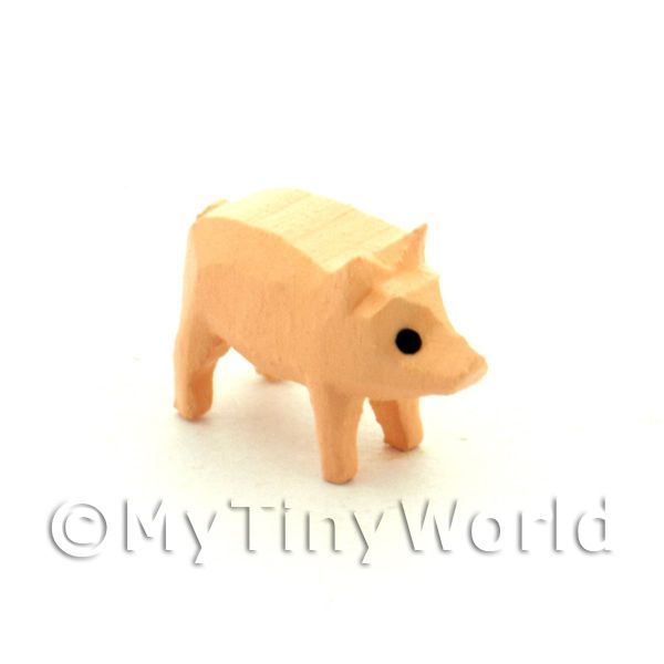 German Dolls House Miniature Small Standing Pig
