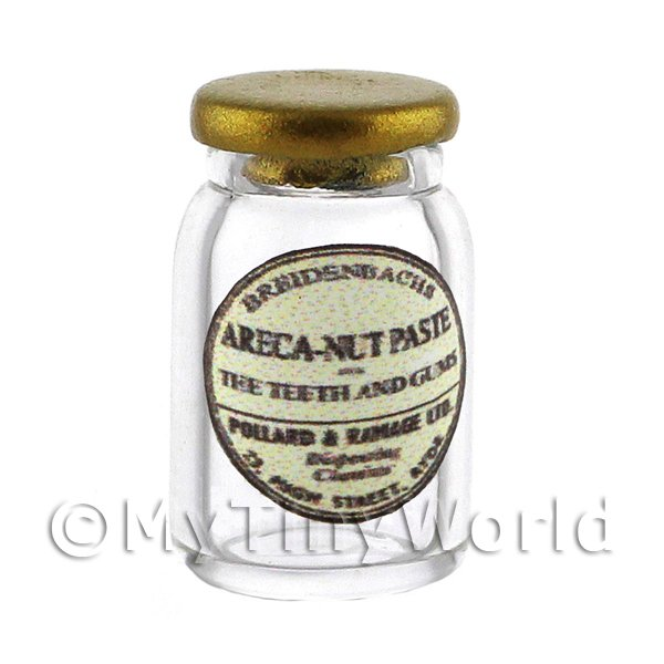Miniature Areca-Nut Paste Glass Apothecary Ointment Jar