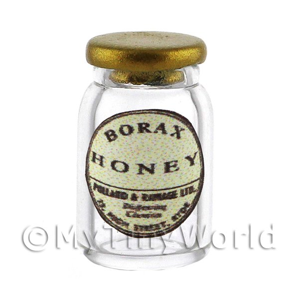 Miniature Borax Honey Ointment Glass Apothecary Ointment Jar
