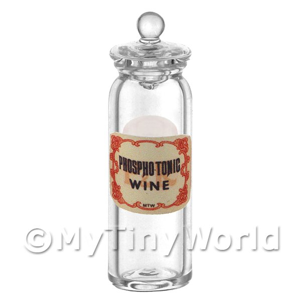 Dolls House Miniature  | Miniature Phosphotonic Wine Glass Apothecary Jar