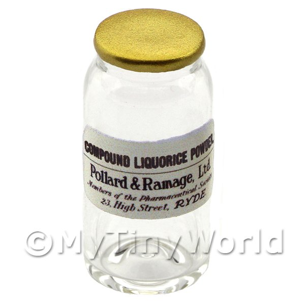 Miniature Liquorice Powder Glass Apothecary Bulk Jar