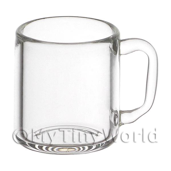 Dolls House Miniature Handmade Glass Continental Style Beer Mug
