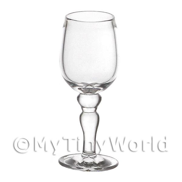 Dolls House Miniature  | Dolls House Miniature Handmade Glass Goblet With Ball Stem