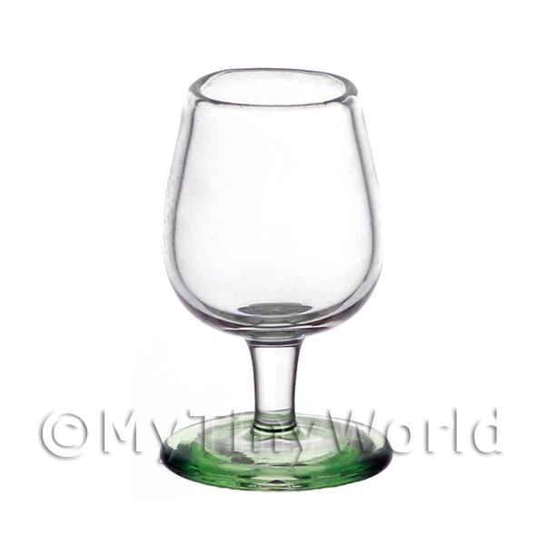 Dolls House Miniature Handmade Green Based Wine Glass