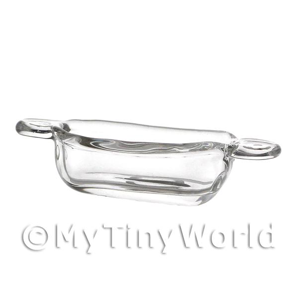 Dolls House Miniature Handmade Glass Casserole Dish