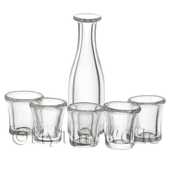 dolls house miniature glassware